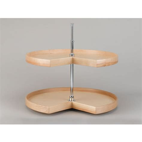 Kidney Shaped Lazy Susan Shelf by Rev A Shelf Kidney Shaped Best Quality Wood 2 Tray