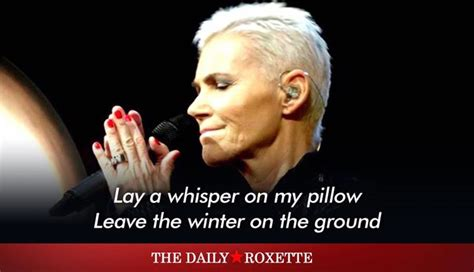 Lyrics Lay A Whisper On Pillow by The Daily Roxette 187 Tdr Archive 187 Lay A Whisper On