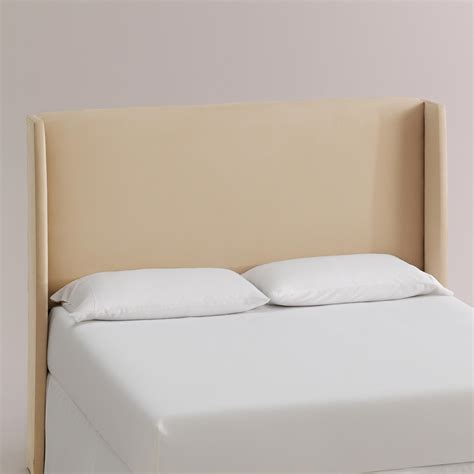World Market Headboard by Micro Suede Bryn Upholstered Headboard World Market