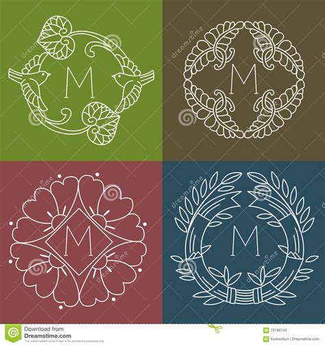 colorful logo design elements vector set set of colorful hand drawn vector borders frames and