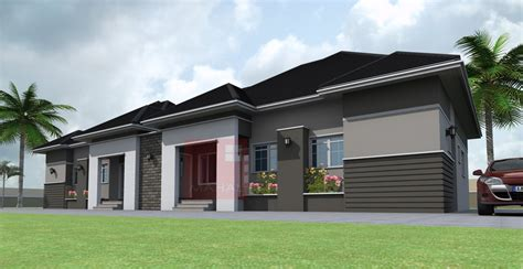 detached bungalow contemporary residential architecture 3 bedroom