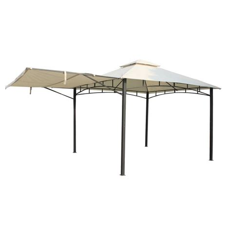 gazebo awning royalcraft steel gazebo with awning 3 3mx3 3m garden