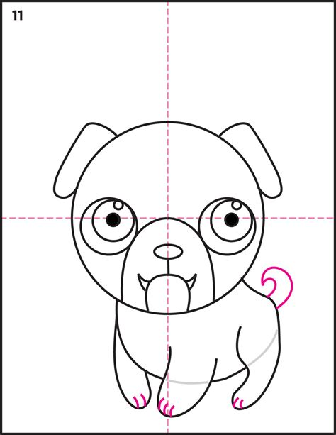 pug tutorial how to draw a pug tutorial projects for litle pups