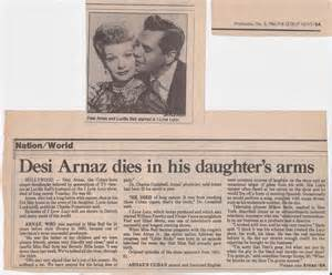 when did arnaz died lucy archives desi arnaz dies in his daughter s arms 1986