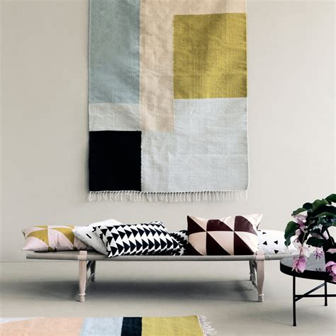 teppich kelim kelim rug squares by ferm living in the shop