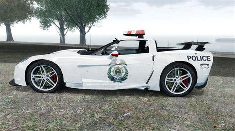 police corvette chevrolet corvette z06 police for gta 4