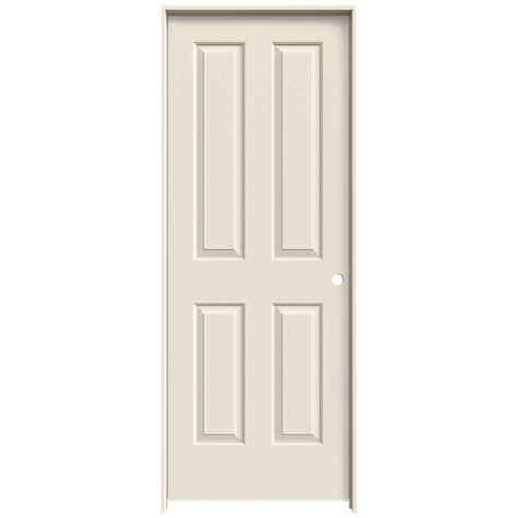 doors home depot interior jeld wen 28 in x 80 in molded smooth 4 panel primed white hollow composite single prehung