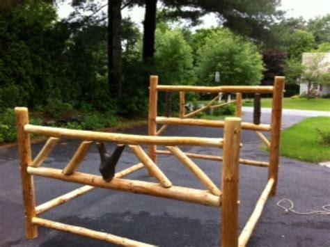 log queen bed frame adirondack queen log bed frame new york queensbury