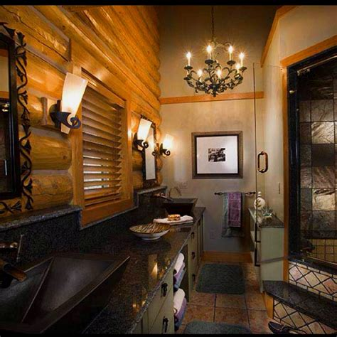 bathrooms in log homes luxury log cabin homes bathroom dream home ideas pinterest
