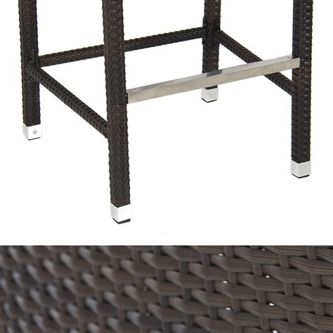 All Weather Outdoor Bar Stools by Outdoor Wicker Barstool All Weather Brown Patio Furniture