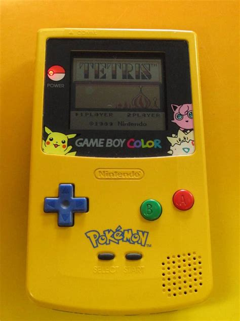 yellow gameboy color nintendo boy color pikachu edition yellow