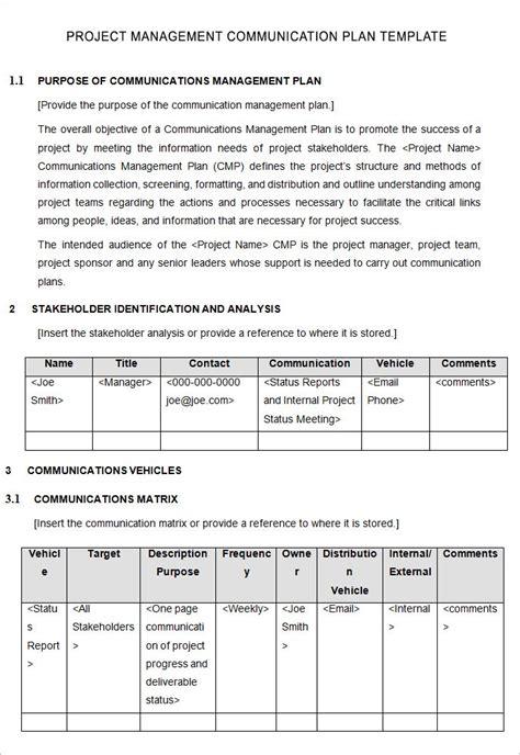 10 Project Management Communication Plan Templates Sles Doc Pdf Free Premium Templates Project Communication Plan Template