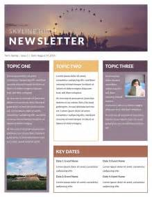 one page newsletter template template idea