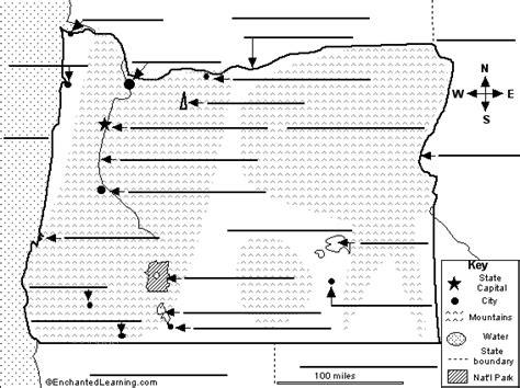california map enchanted learning label oregon map printout enchantedlearning