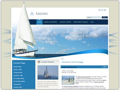 dj sailing template joomla sport template for show off hobby