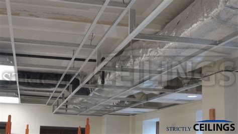 How To Build A Suspended Ceiling by Cover Ductwork Beams In Basements Building Advanced