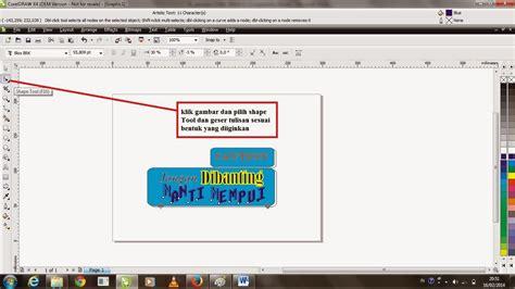 corel draw x4 ukuran kecil story of h dy cara membuat sticker sederhana menggunakan