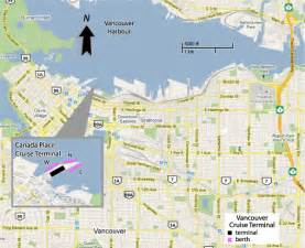 map of canada place cruise ship terminal cruises from vancouver canada vancouver cruise ship