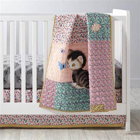 kitten bedding set kitten crib bedding the land of nod
