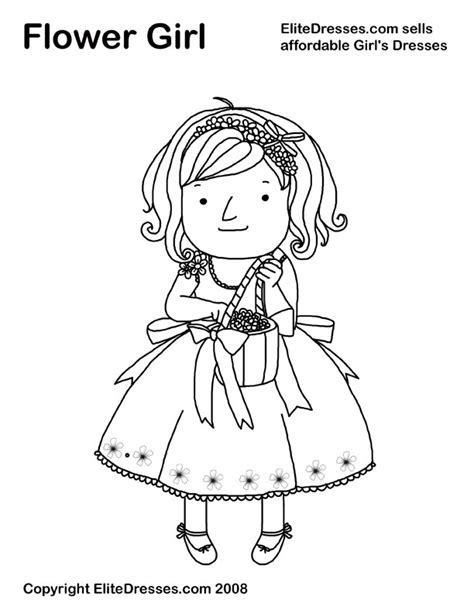 coloring pages flower girl flower girl coloring pages flower coloring page