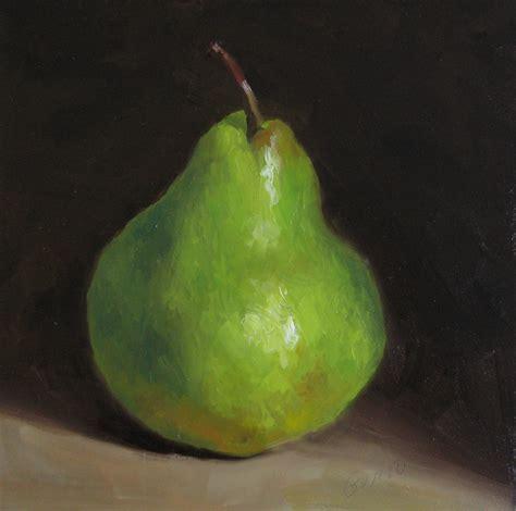 garro s daily paintings green pear