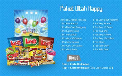 Happy Paket meriahkan pesta ulang tahun bersama garudafood idjo zone