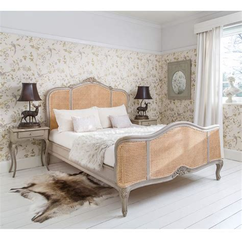 french bedroom furniture normandy rattan painted luxury french bed king size bed