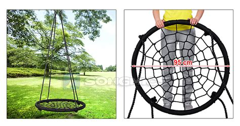 spider web swing songmics 95cm nest swing kids seat playground spider web