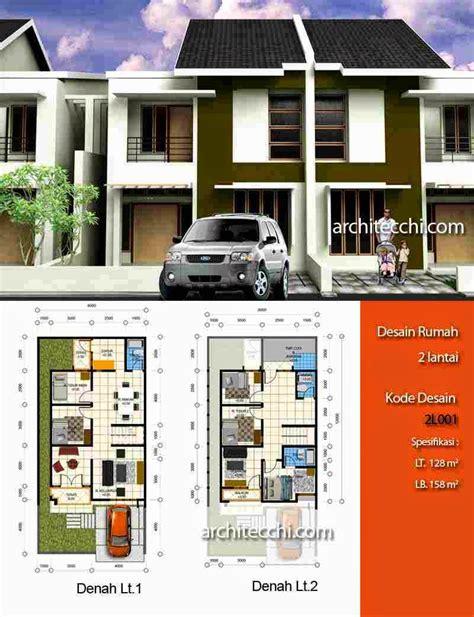 desain rumah minimalis 2 lantai beserta denahnya gambar foto desain rumah