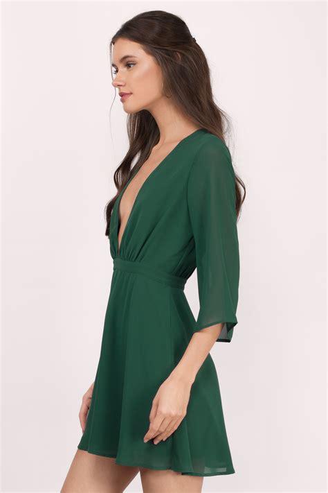 Dress Green green dress v dress royal green dress skater