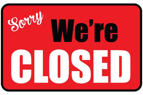 open closed sign template printable we re closed sign free business signs diy