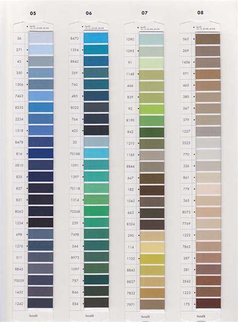 colors agency serafil color chart hfk agency inc