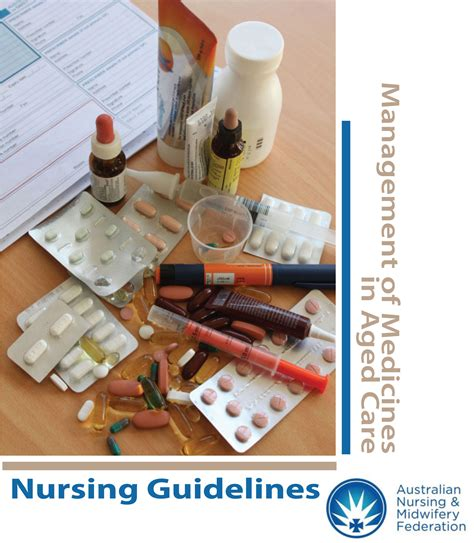 Home For The Aged Design Guidelines Nursing Guidelines For The Management Of Medicines In Aged
