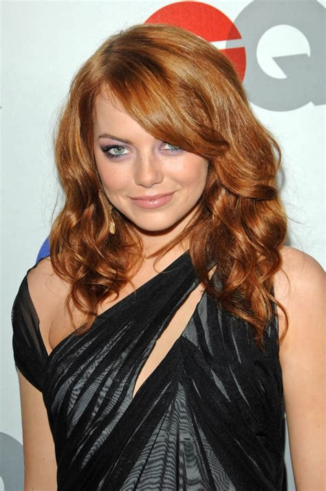 emma stone wavy hair emma stone curly red hair