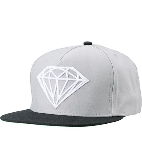 black grey snapback by snaplus supply co brilliant black grey snapback hat zumiez
