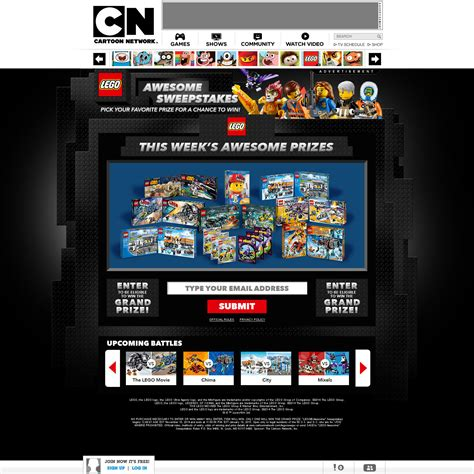 Cartoon Network Sweepstakes 2014 - michael demallie lego awesome sweepstakes