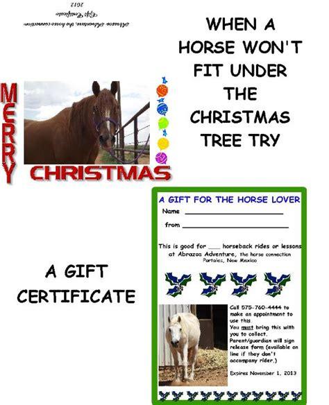 Good Horseback Riding Gifts Gift Ftempo Horseback Lesson Gift Certificate Template