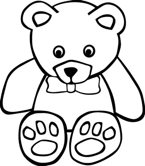 Teddy Outline Images by Teddy Outline Az Coloring Pages