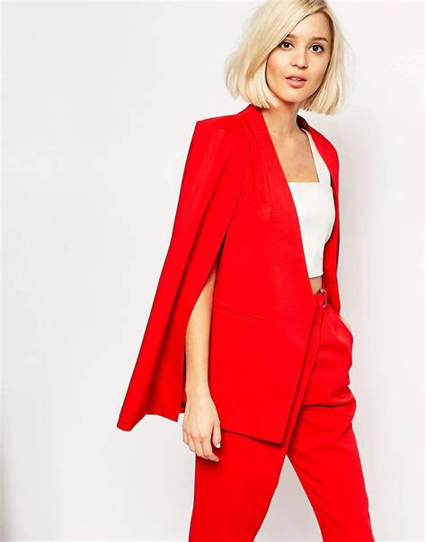 Blazer Cape Lavish Lavish Collarless Cape Blazer In