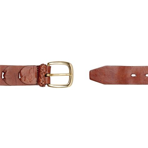kangaroo leather belt with solid brass buckle