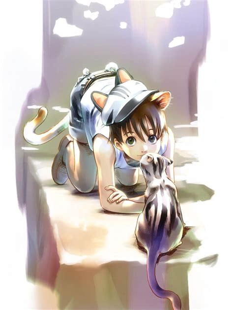 Boy Cutie Cat anime animal guys images neko hd wallpaper and background