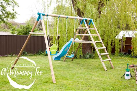 make your own swing turn your garden in an adventure playground with a plum