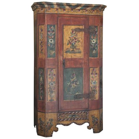 italian armoire superb 19th century hand painted italian armoire for sale