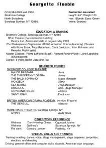 high school acting resume template resume format