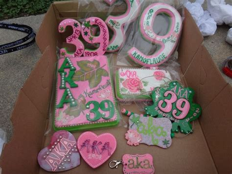 Handmade Sorority Gifts - alpha kappa alpha sorority handmade crossing gifts i see