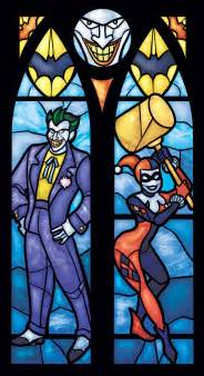 Spiderman Bedroom Decor Twin Lancet Set Joker And Harley Quinn Stained By