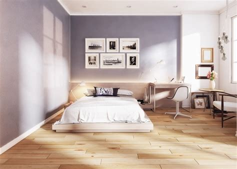 chambre sol gris chambre 224 coucher contemporaine par le studio de design koj