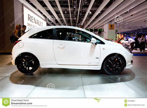 opel white white car opel corsa editorial photo image 20189821