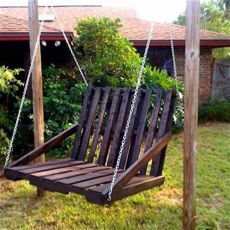 diy chair swing 33 pallet swings chair bed and bench seating plans