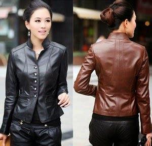 Jaket Kulit Sintetis Jaket Casual Model Kerah Korea Murah pusat jaket ala korea untuk wanita dan pria